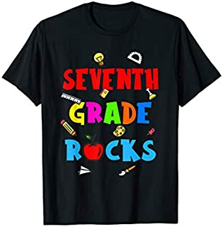 Seventh Grade Rocks  Welcome To 7th Grade T-shirt | Size S - 5XL