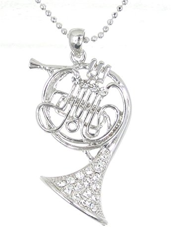 Sparkleshop New French Horn Musical Band Pendant Charm Necklace