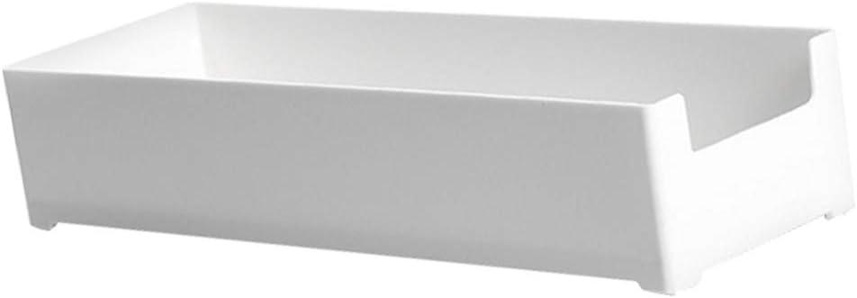 20x10x6cm Fenteer Bandeja De Almacenamiento De Cajones De Escritorio Blanca para Joyas Ba/ño Sin BPA Irrompible