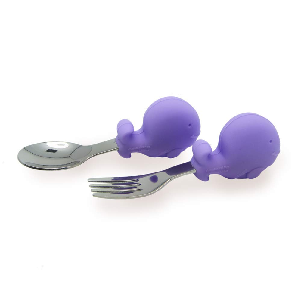 Palm Grasp Fork and Spoon and Baby /& Self Feeding Suction Bowl Toddler Mealtime Set Baby Weaning Lead Gift Set BPA//Phthalate Free 18 Month+