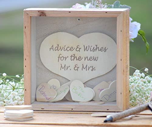 Wedding Wishing Well.Wedding Advice Box Wedding Wishing Well Wedding Advice For The Bride And Groom Box Rustic Wedding Guest Book Alternative Love Notes