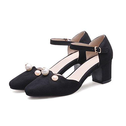 Black ASL04945 Sandals BalaMasa Sandals Studded Huarache Urethane Womens q50xwxfYB