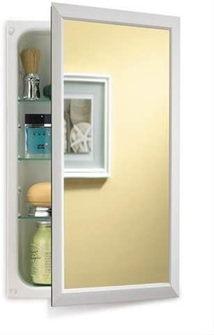 Jensen 625N244WHC Hampton Recessed and Framed Medicine Cabinet, White