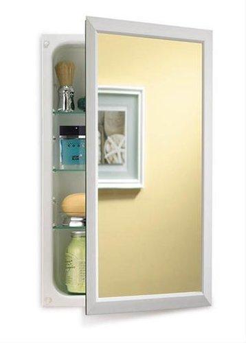 Jensen 625N244WHC Hampton Recessed And Framed Medicine Cabinet, White