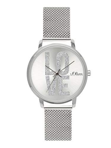 s.Oliver Time Womens Analogue Quartz Watch with Stainless Steel Strap SO-3579-MQ