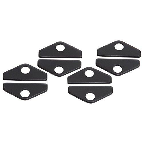 Down Tabs Hold - Edelbrock 44273 Hold-Down Tab Kit For Use w/Edelbrock/Similar Design Chrome Valve Covers/Elite Series/Elite II Valve Covers 1.5 in. Long 8 pc. Black Finish Hold-Down Tab Kit