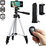 """Paladinz Phone Tripod 42"""" Inch Aluminum Lightweight iPhone Tripod Stand for Camera Smartphone Cellphone with Carrying Bag and Smartphone Mount and Wireless Bluetooth Remote Control"""