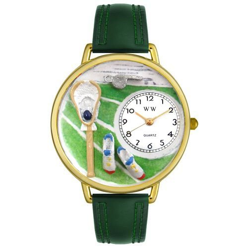 Whimsical Watches Unisex G0820014 Lacrosse Hunter Green Padded Leather Watch by Whimsical Watches