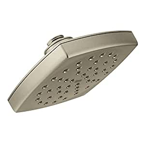"""Moen S6365BN Voss 8"""" Eco-Performance Single-Function Rainshower Showerhead with Immersion Technology at 2.0 GPM Flow Rate, Brushed Nickel"""