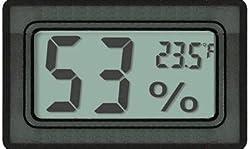 Avianweb Av 1951ht Digital Mini Instant Read Temperature Fahrenheit Humidity Gauge Thermometer Hygrometer Most Popular Applications For Cars Incubators And Brooders Black