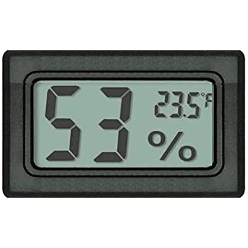 Digital Mini Instant-Read Temperature (Fahrenheit) & Humidity Gauge Thermometer (Hygrometer) – Most popular applications for Cars, Incubators and Brooders