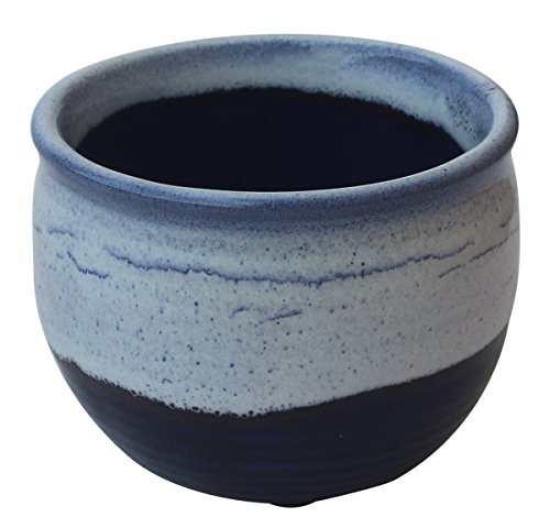 Handicrafts Sky Blue Dark Blue Pottery Shaving Bowl for Men/Bowl For Shave And Cream/Portable Shaving Bowl Mug/Made in India, Beautiful Gift for Men ()
