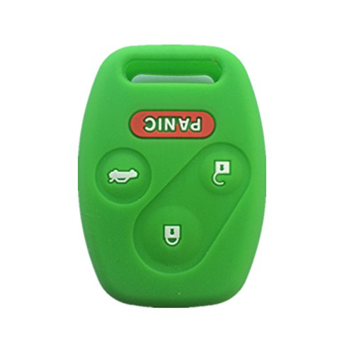 - Green Silicone Rubber Keyless Entry Remote Key Fob Case Skin Cover Protector for Honda 3+1 Buttons