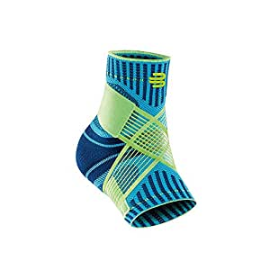 Bauerfeind Sports Ankle Support - Breathable Compression - Figure 8 Taping Strap - Air Knit Fabric for Breathability (Rivera, Large, Left)