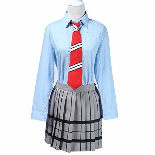 Poetic Walk Your Lie in April Cosplay costume Miyazono Kaori School uniform (X-Large, As Picture)