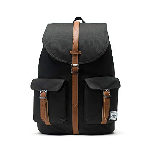 Herschel Dawson Backpack - Black/Tan Synthetic Leather