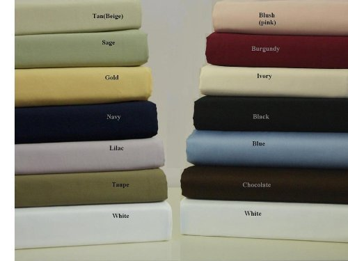 Queen Size Burgundy 450 Thread Count 100% Egyptian Cotton Sateen Solid Bed (Bed And Bath Store)