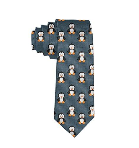 Men's cute funny Animal Penguin Necktie Gift Novelty Neck Ties For Men Teen (New Animal Novelty Tie)