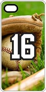 Baseball Sports Fan Player Number 16 White Plastic Decorative iphone 5c Case WANGJING JINDA