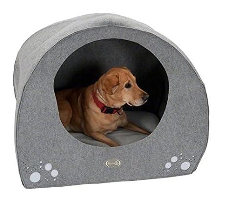 Iglú para perros, cómodo, con cojín extraíble, de la marca Dog Igloo.