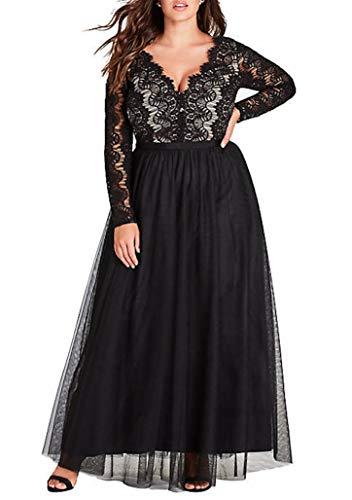 City Chic Women's Apparel Women's Plus Size Dress Rare Beauty, Coal Black, M