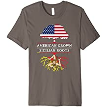 American Grown with Sicilian Roots T-Shirt - Sicily Shirt