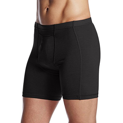 Mens Regular Merino Wool - Minus33 Merino Wool 702 Acadian Men's Lightweight Boxer Brief Black 4X