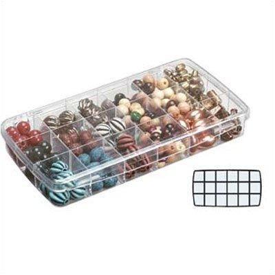ArtBin Storage Bulk Buy Prism Box 18 Compartments 8.875 inch x 4.875 inch x 1.325 inch Translucent 918AB (3-Pack)