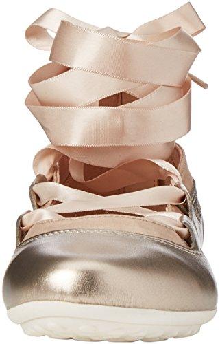 Geox Jr Piuma Ballerine D, Bailarinas Para Niñas Dorado (Gold)
