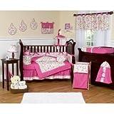 JoJo Designs Circles Pink Bedding: Circles Pink Twin Four Piece Set