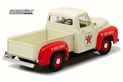 Greenlight 12991 1953 Ford F-100 Texaco with Vintage Texaco Gas Pump 1:18 Scale