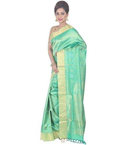 Indian Ethnic Upadda Silk Light Green Uppada Saree by Simaaya Fashions Pvt Ltd (Image #2)