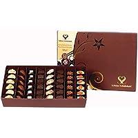 SCHÖNE SCHOKOLADE SPESİYAL ÇİKOLATA, Bayram ve Özel Günler için Premium Karışık Hediye, Gurme Çikolata, Doğal ve Sağlıklı, 48 Adet, 520 GR