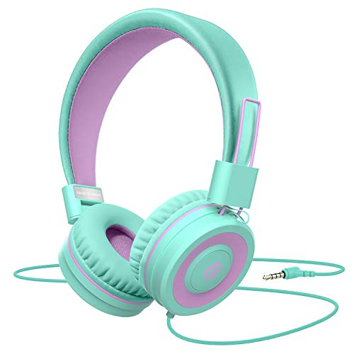 Kids Headphones,Besom i66 Headphones for Girls- Wired Headphones for Kids, Adjustable Foldable Tangle-Free Cord 3.5mm…