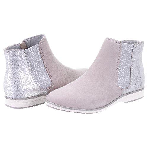 Marco Tozzi - Botas de Piel para mujer gris
