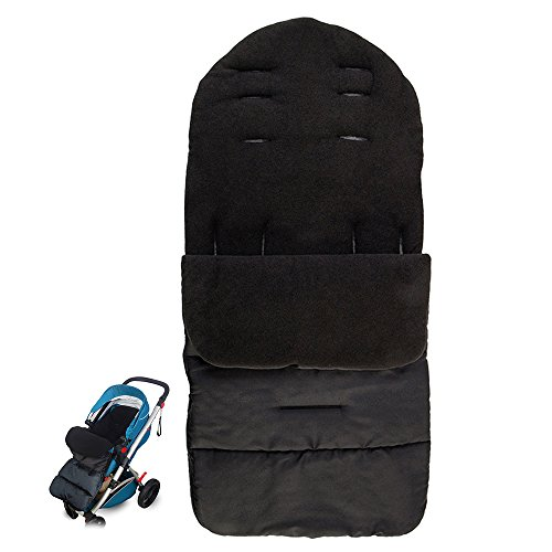 Hootech Universal Footmuff Baby Stroller Sleeping Bag Bunting Sack Bundleme Velvet Warm for 0-36 Month Baby (Black)