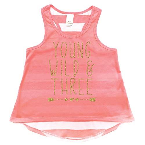 Bump and Beyond Designs Girl 3rd Birthday Outfit, Three Year Old Birthday Girl Tank Top (3T) ()