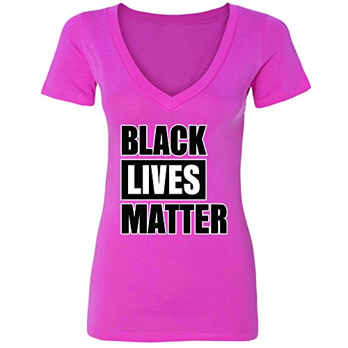 Hawain Outfit (Amazing Items Black Lives Matter Civil Rights Women's V-Neck Shirt, 2X-Large, Pink)