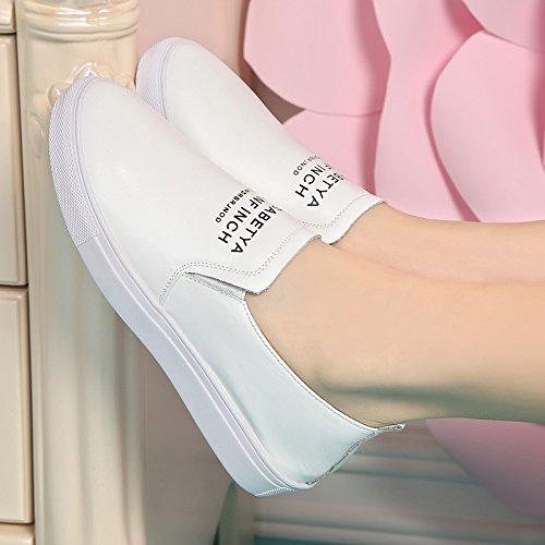 GTVERNH-Nuovo Stile Casual E Scarpe Scarpe Bianche Spesso Fondo Di Scarpe Da Donna Sola Scarpa Le Scarpe Sportive 40 White