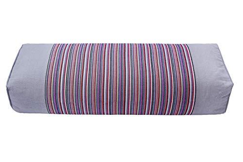 JOERRES Buckwheat Pillow 100% Organic Coarse Cloth Package. The Pillowcase Has Massaging Effect.Improve Sleep Quality. (Grey)