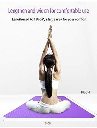 Amazon.com : Non-Slip Yoga Mat Environmental Protection 6mm ...