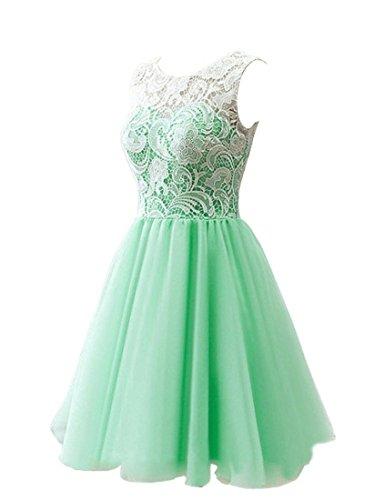 Short Chiffon Bess Dresses Prom Lace 2017 Homecoming Women's Teal Bridal 6wEqgF