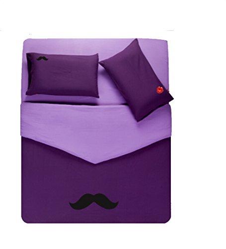 Homesicker Light Purple Beard Pattern Pure Cotton Bedding Set,X-Long Twin price