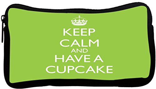 Rikki Knight Keep Calm and Have a Cupcake - Lime Green De...