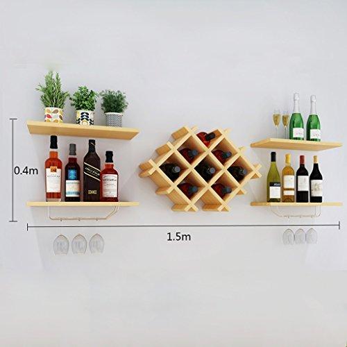 Wallpiping Wall Decorative Wine Rack Restaurant Shelf Deck Suspension Storage Tower ( Size : 15040 ) by LITINGMEI Shelf (Image #1)'