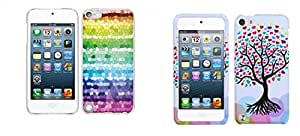 Combo pack Cellet White Proguard Case with Color Pixel For Apple iPod Touch 5th Generation And MYBAT Love Tree Phone Protector Cover for APPLE iPod touch (5th generation)