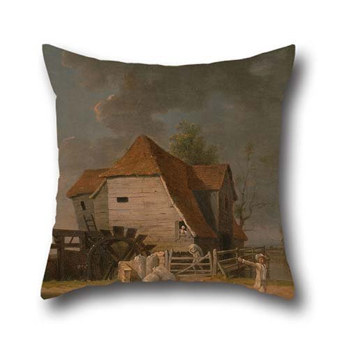 Cushion Cases 18 X 18 Inches / 45 By 45 Cm(double Sides) Nice Choice For Saloon,bedroom,study Room,teens Boys,shop,her Oil Painting John Inigo Richards - A Scene From 'The Maid Of (Maple Doll Bed)