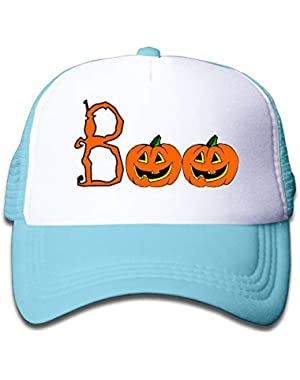 Halloween Boo1 On Kids Trucker Hat, Youth Toddler Mesh Hats Baseball Cap