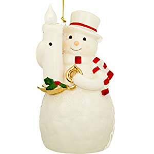 Lenox Blow Out The Lights Sensor Snowman Hanging Ornament