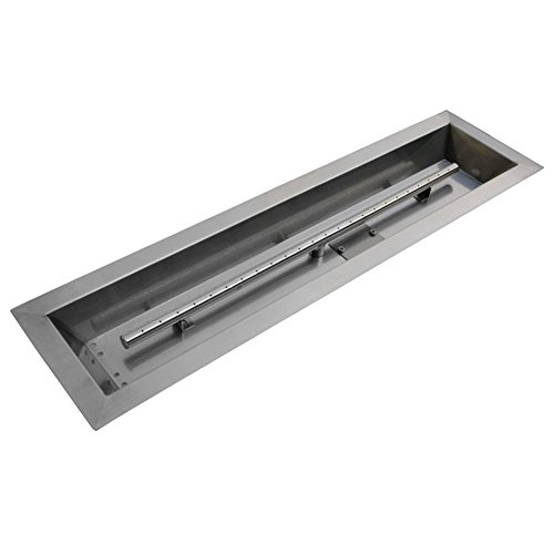 Stanbroil Stainless Steel Linear Trough Drop-in Fire Pit Pan and Burner 30 by 6-Inch